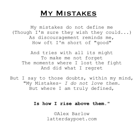 my mistakes minimal updated